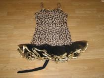 Costum carnaval serbare animal leopard tigru pentru adulti S