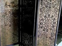Paravan despartitor ornamental compus din 3 panouri