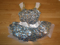 Costum carnaval serbare rochie dans balet gimnastica 6-7 ani