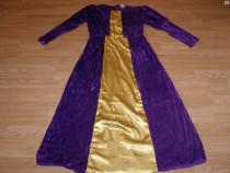 Costum carnaval serbare rochie medievala regina adulti L-XL