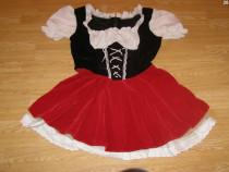 Costum carnaval serbare scufita rosie pentru adulti L-XL