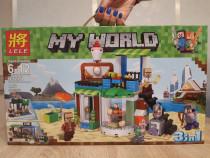 3 in 1 - Set de 446 piese lego Minecraft - My Worl