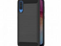 Husa Telefon Silicon Samsung Galaxy A50 a505 Black Carbon
