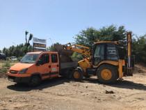 Închiriere buldoexcavator JCB 3CX excavator