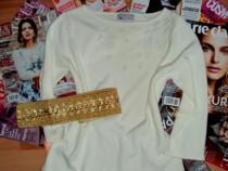 Bluza originala BHS cu perlute albe