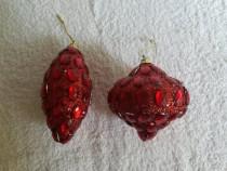 Glob brad Craciun forma conica sclipici rosu pietre Ambalat