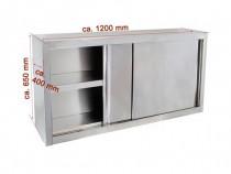 Dulap inox de perete cu usi glisante 1200x400x650 mm