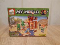 Nou/sigilat - set de 140 piese tip lego minecraft elephant d