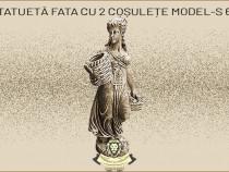 Statueta domnita cu 2 cosulete, model S67.