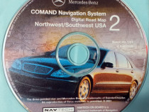 DVD original Navigatie GPS Mercedes-Benz America Nord-Sud