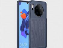 Husa telefon silicon huawei mate 30 carbon drak blue nou
