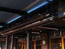 Tuburi radiante pe gaz pentru terase si hale