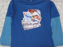 Superman,bluza,tricou cu maneca lunga, original,marimea 152