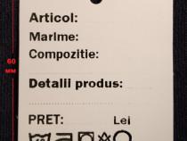 Etichete carton pentru haine