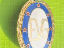 8103-I-Insigna Caile Ferate E EVG 1500 km bronz aurit email.