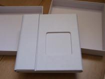 Carcasa Lux 2 DVD piele alba + poza si cutie