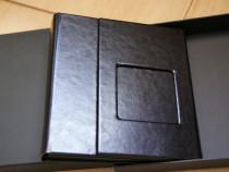 Carcasa Lux 4 DVD piele neagra + poza si cutie
