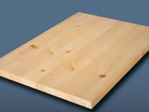 Blat masa 43 mm grosime, 1200 mm diametru din lemn masiv de