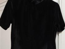 Tricou negru de catifea