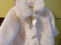 Paltonas capa blana botez 6-12 luni