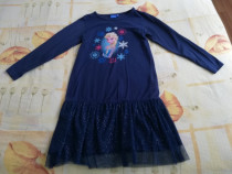 Rochie NOUA albastra Disney cu Elsa 122-128