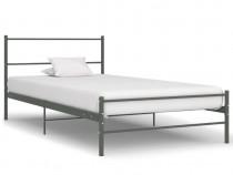 Cadru de pat, gri, 90 x 200 cm, metal 286493
