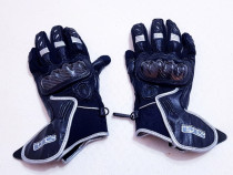 Mănuși moto STR Lindstrands, mărimea S, piele/textil Goretex