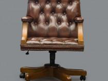 Scaun de birou Chesterfield Gainsborough din piele naturală-