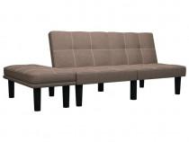 Canapea pentru 2 persoane, maro, 284751