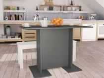 Masă de bucătărie, gri, 110 x 60 x 75 cm,800245