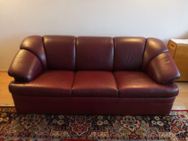 Set canapea 3 locuri + 2 fotolii piele naturala - Mobexpert