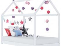 Cadru pat de copii, alb, 70 x 140 cm, lemn 283349