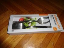 Fiskars, set tacamuri mate pt. salata. nou -50 % reducere