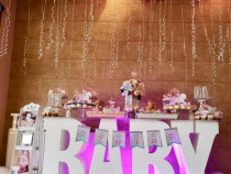Masa Candy Bar din polistiren - LOVE, BABY, CANDY, SWEET