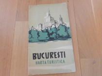 Bucuresti harta turistica 1957