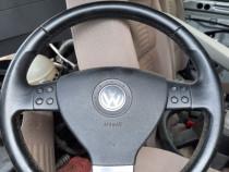 Volan cu comenzi airbag si calculator coloana vw touran b6