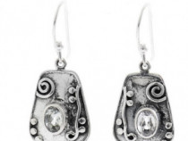 Cercei argint 925 cu cuart cristal de stâncă