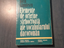 Elemente de origine sarbocroata ale vocabularului dacoroman