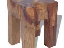Taburet, lemn de tec masiv 243471