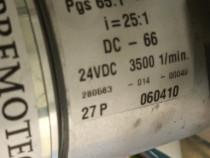 Motor 24Vdc pas cu pas cu reductor de turație. i = 25 : 1