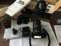 Aparat foto DSLR Kikon D3200 cu obiectiv 18-140mm