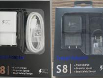 Incarcator FAST Samsung Alb/Negru S8/S8 pus/S9/S9 plus S10