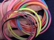 Bratari colorate cauciuc/plastic