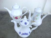 Lot de 3 ceainice din portelan
