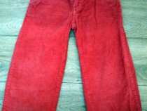Pantaloni rosii subtiri Logg/H&M - 2-3 ani 86- 92 cm