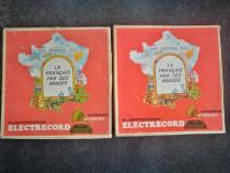 Le francais par des images. Set box 3 discuri vinyl franceza