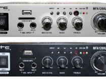 Amplificator karaoke stereo,Ltc Audio MFA1200USB-BT-BL,2x50W