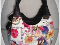 *Michael Kors* handbag, print floral, reptile background