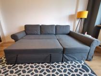 Canapea extensibila 3 locuri cu sezlong - BACKABRO IKEA