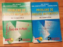 Probleme de analiza matematica de Ion Petrica (2 vol.)